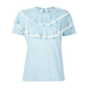 Red Valentino loose ruffled blouse - ブルー