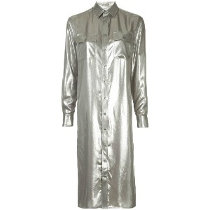 Ralph Lauren Collection straight metallic shirt dress - メタリック