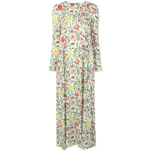 La Doublej Dragon Flower print maxi dress - ホワイト
