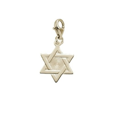 STAR OF DAVID CHARM WITH LOBSTER CLAW CLASP、チャームブレスレットとネックレス用