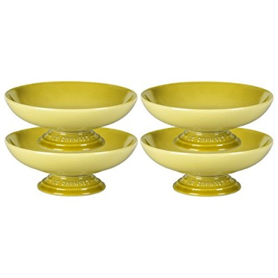 Le Creuset SoleilイエローStoneware Footed Serving Bowl, Set of 4