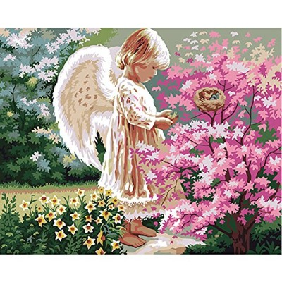 (Frameless, 4050433) - LICSE DIY Painting Adults Paint by Number Kits Drawing for 40x50cm Angel of...
