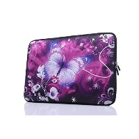 15-15.6 Inch Laptop Sleeve Case Handle Bag Neoprene Cover  Butterfly