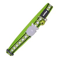 Red Dingo 12mm Reflective Cat Collar, Small, Lime Green by Red Dingo