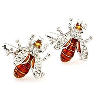Joyplancraft HoneybeeカフスボタンBling Bornet Cuff Links Bestギフトto bee Lovers