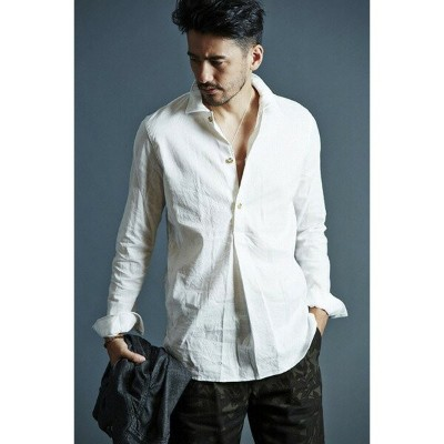 VADEL swedish pull-over shirts WHITE サイズ46【代引不可】_送料無料
