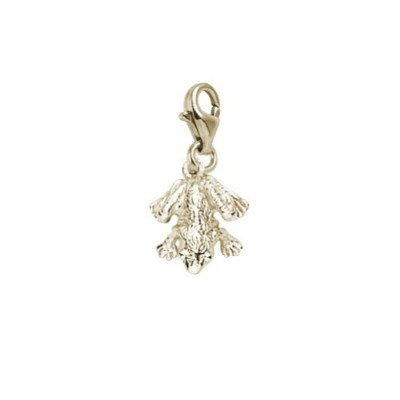 Frog Charm with Lobster Claw Clasp、チャームブレスレットとネックレス用