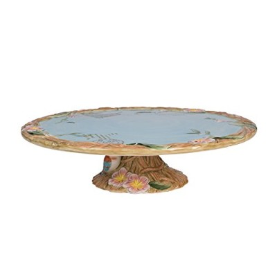 Fitz and Floyd Toulouse Collection Footed Cake Plate, Brown