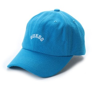 【SALE 30%OFF】ゲス GUESS Originals ARCH LOGO CANVAS 6PANEL CAP (BLUE)【JAPAN EXCLUSIVE ITEM】
