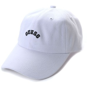 【SALE 30%OFF】ゲス GUESS Originals ARCH LOGO CANVAS 6PANEL CAP (WHITE)【JAPAN EXCLUSIVE ITEM】