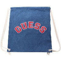 ゲス GUESS Originals ARCH LOGO DENIM KNAPSACK (MEDIUM BLUE)【JAPAN EXCLUSIVE ITEM】(ゲス オリジナルス アーチロゴデニムナッ...