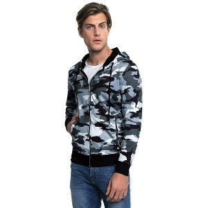 【SALE 10%OFF】ゲス GUESS KEITH CAMO HOODY (TRADITIONAL CAMO JET BLACK)