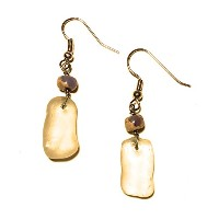 Authentic Lake Erieビーチglass-clear with Bead