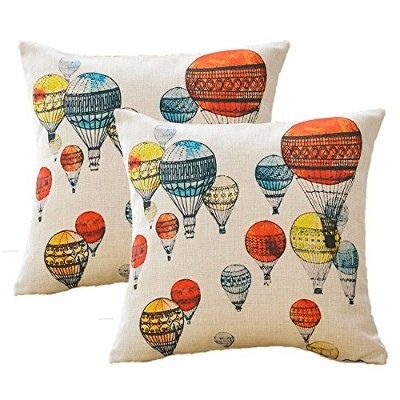 (C(pack of 2)) - Sykting Sofa Pillow Cases Throw Pillow Covers 18 x 18 Set of 2 Printing Series...