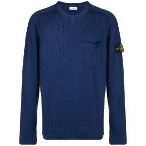 Stone Island pocket detail sweater - ブルー