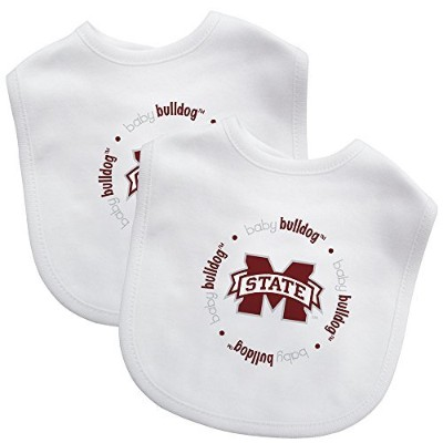Baby Fanatic Team Color Bibs, Mississippi State University, 2-Count by Baby Fanatic