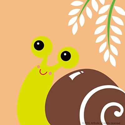 """DIY油絵、ペイントby Numberキットfor Kids–Snails 8"""" x8"""" (フレーム入りキャンバス) CFY-P-2514"""