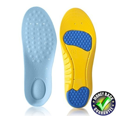 Dr.Koyama Premium Arch Support Memory Foam Silicon Gel Orthopedic Shock Absorbing Sports Insole US...