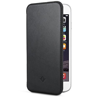 Twelve South SurfacePad for iPhone 6/6s, black   Ultra-slim luxury leather cover + display stand ...