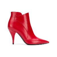 Casadei pointed toe ankle boots - レッド