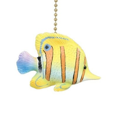 Tropical Yellow Angelfish Ceiling Fan Pull by Clementine Designs