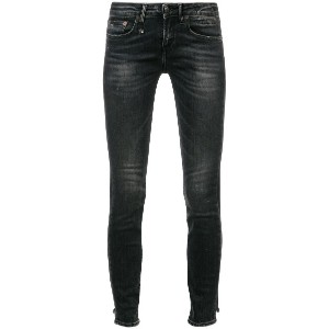 R13 low rise skinny jeans - ブラック