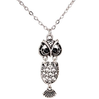 JinフクロウネックレスDomineeringメンズジュエリーPersonalized Owlネックレスチェーン付きペンダントネックレスfor Womens