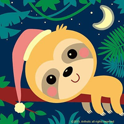 (Quiet Monkey) - DIY Oil Painting, Paint by Numbers Kits for Kids - Quiet Monkey 20cm X 20cm,...