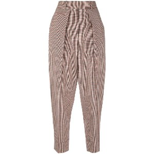 Cédric Charlier checked trousers - レッド