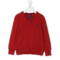 Ralph Lauren Kids V-neck sweater - レッド
