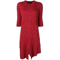 Neil Barrett midi knit dress - レッド