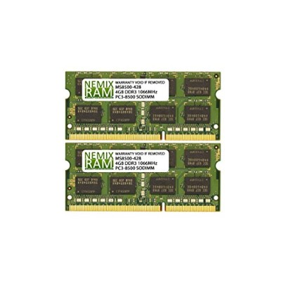 8 GB ( 2 x 4 GB ) ddr3 – 1066 MHz pc3 – 8500 SODIMM for Apple iMac Early 2009 Intel Core 2 Duo 2.93...