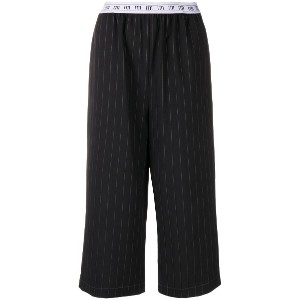 I'M Isola Marras pinstripe cropped trousers - ブラック
