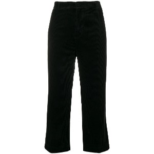 Aspesi cropped trousers - ブラック