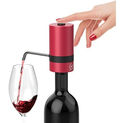 WAERATOR W2 Luxurious Instant 1-Button Electric Wine Aerator w/Spout - 6X More Oxidation for Wines,...