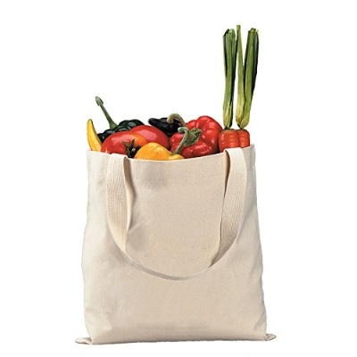 Heavy Canvas Grocery Shoppingトートバッグ、自然