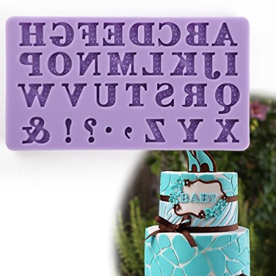 (Cameo A to Z) - Anyana mini letters alphabet comma exclamation mark mould Fondant Mould for gum...
