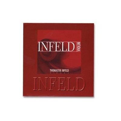 Thomastik Infeld Red 4/4 Violin String Set - Medium Gauge with Removable Ball End Gold-plated Steel...
