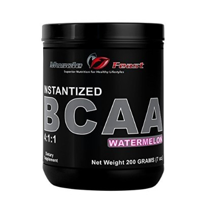 Muscle Feast Instantized Branch Chain Amino Acids (BCAA) Powder (Watermelon, 200 grams) by Muscle...