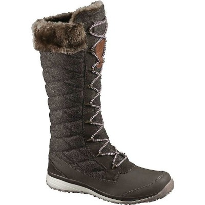サロモン レディース シューズ・靴 ブーツ【Salomon Hime High Boot】Absolute Brown-X / Absolute Brown-X / Light Grey