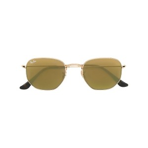 Ray-Ban hexagonal sunglasses - メタリック