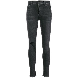 Dondup ripped knee skinny jeans - グレー