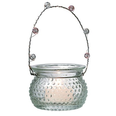 Luna Bazaar Hangingキャンドルホルダー、花瓶(2.25-inch、Rowenna Hobnail、クリア–For use with tea lights–Forホーム装飾...