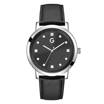 ゲス GUESS 腕時計 メンズ 13557355 G By Guess Men's Silver-Tone Black Crystal Dial Watchゲス GUESS 腕時計 メンズ 13557355