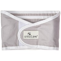 Swaddle Strap NEW (Small - chest circumference up to 16, Grey Solid) by Anna & Eve