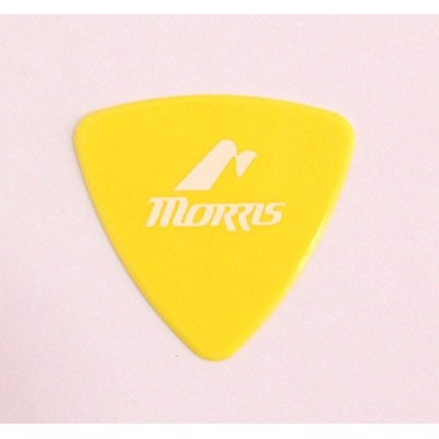 MORRIS DELRIN Yellow 0.73mm Triangle ギターピック×12枚