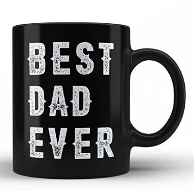Best Dad Everマグ – Dad Ever Gifts for Him誕生日ギフト記念日ギフト父の日UniqueブラックFunny Coffee Mugs by Hom