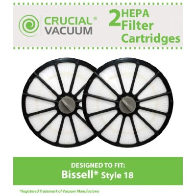2Bissell HEPAフィルタカートリッジfor the Bissell 16N5排気円形スタイル18HEPAフィルタカートリッジ、比較パーツ# 48g7、203–1473...