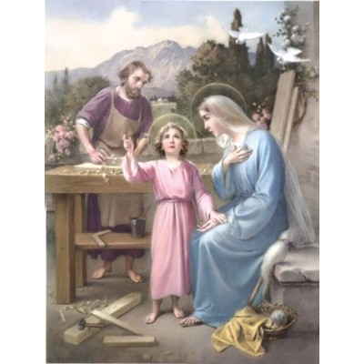 """Holy Familyポスター、13"""" x 17""""–Made in Italy"""