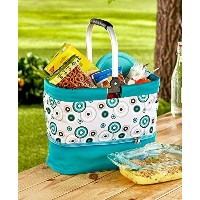 (Geo Circles) - 2-in-1 Tote with Hot/Cold Casserole Carrier (Geo Circles)